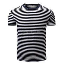 Men T-shirts fine Stripes Short Sleeves T-shirt O-neck Pure Cotton Summer Tops