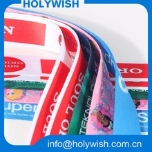100% polyester colorful printing cheap double faced sublimation ribbon wholesale
