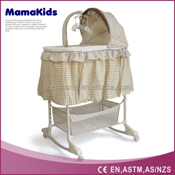 2015 high quanlity bassinet, bassinet wicker baby basket