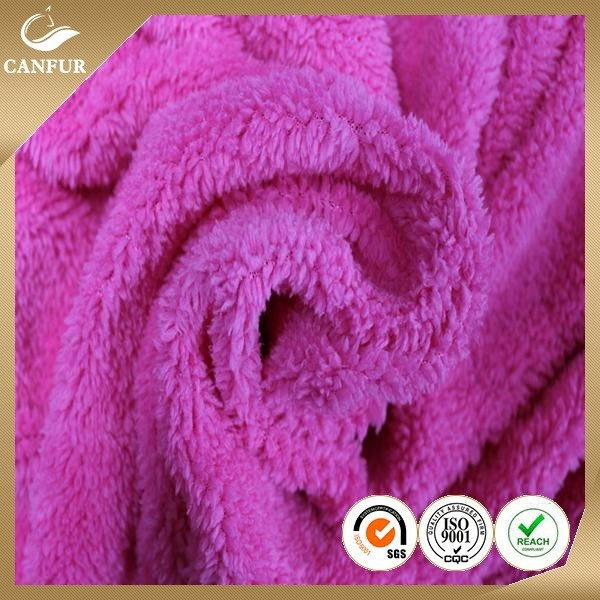 100% Polyester micro sherpa fleece fabric