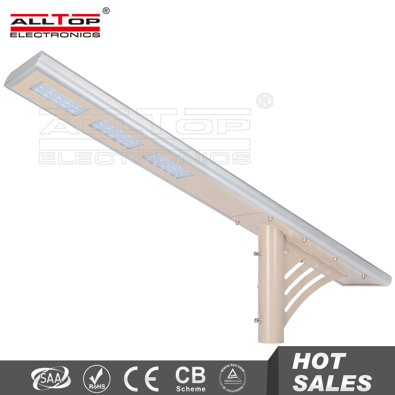 45W integrated motion sensor aluminum housing solar led street light
