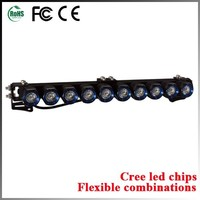 9-32V offroad bull bar led light bar single row 10w with cree led light bar