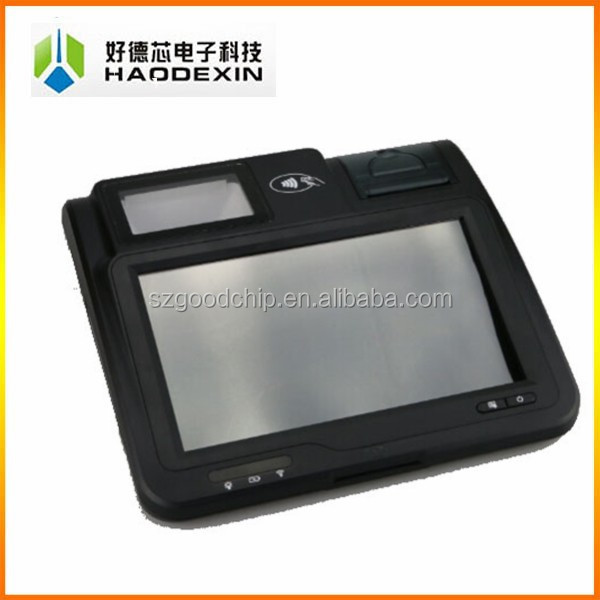 Android pos system with receipt thermal printer barcode scanner wifi 3G WLAN all in one terminal