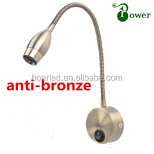 ANTI BRASS 2W LED BED HEAD READING LIGHT
