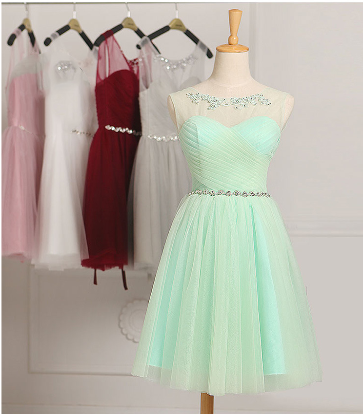 ZH0862F 2017 Short Mini Bridesmaid Dresses Formal Cocktail Party Prom Dress Evening Ball Gown