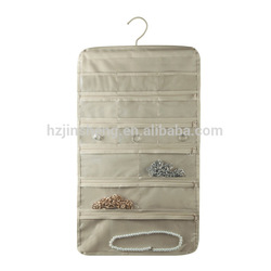non- woven fabric wall hanging jewelry storage zipper bag