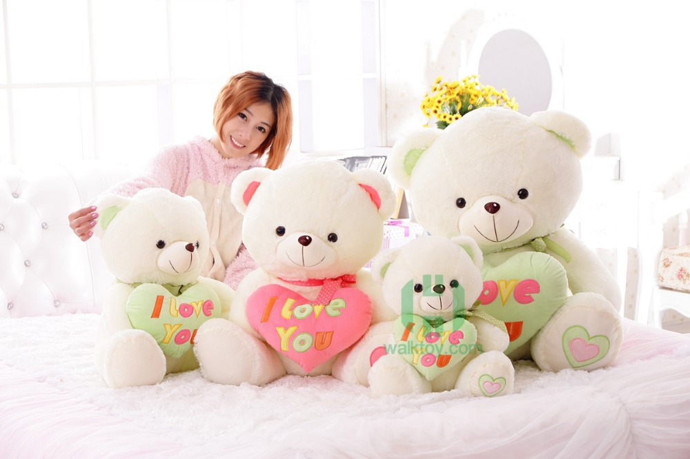 CE Certificate Led Plush Teddy Bears Toy With Heart