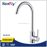 Single lever Chrome Plated Hot/Cold Brass Mixer Water Taps China Kitchen Faucets