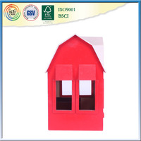 With most lowest price and red wall garden wooden house