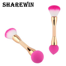 High quality double sided makeup sponge brush for girl