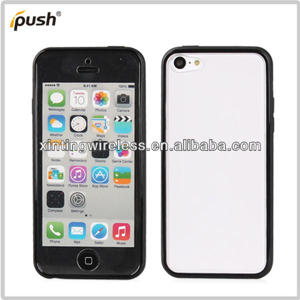 Popular TPU+Transparent PC Case Cell Phone Cover For Iphone5s