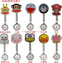 Clip cartoon metal FOB nurse watch, brooch Pocket watch