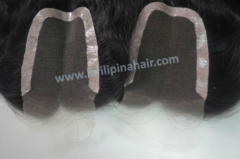 fashionable filipino human hair remy pieces top closure