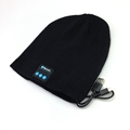 custom logo blue-tooth wool knitted beanie hat for men