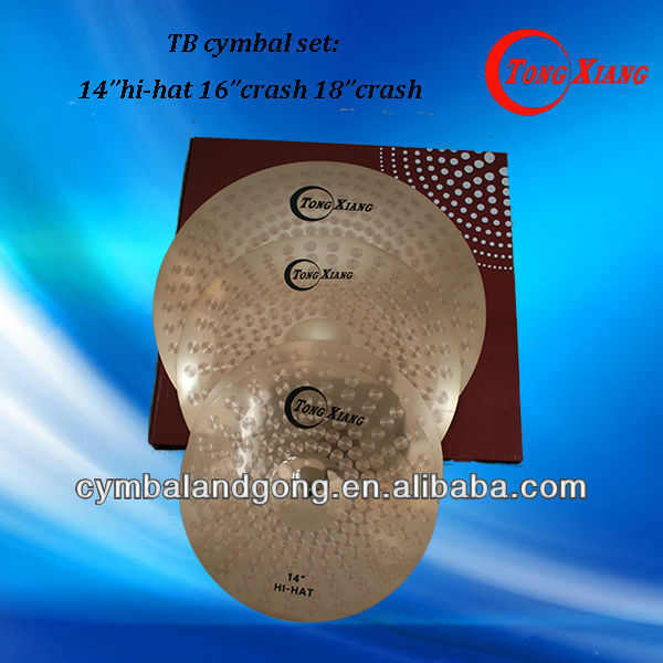 TB drum cimbols set 14 hihat 16 crash 18 crash china cymbal for sale