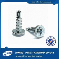 Hot dip galvanized modified truss head self-drilling screw