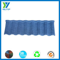 Bent tiles type and sand coated al-zn steel galvanized sheets roof tile