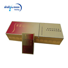 Top selling new design gold paper cardboard cigar packaging gift packing boxes custom cigarette box