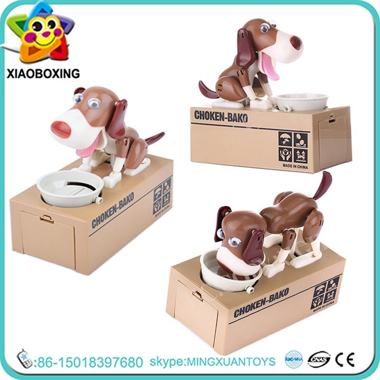 New styles decorative cheap dog piggy bank toys for kids