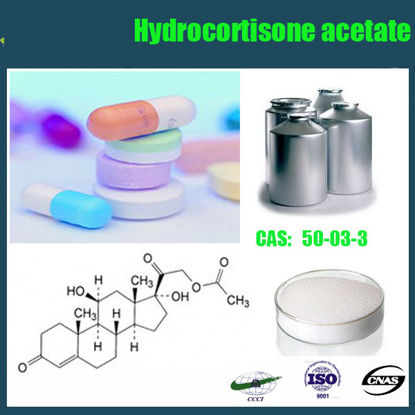 2015 Best hot sell raw material CAS RN:50-03-3 Hydrocortisone acetate/Hydrocortisone 21-acetate