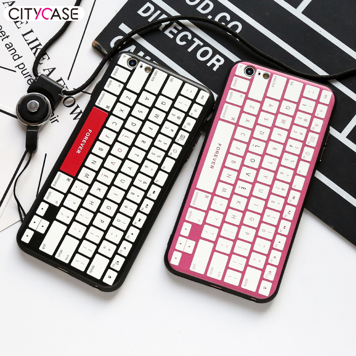 city&case Love Keyboard Free Sample 3D Silicone PC Phone Cover Case for iPhone 6 6s