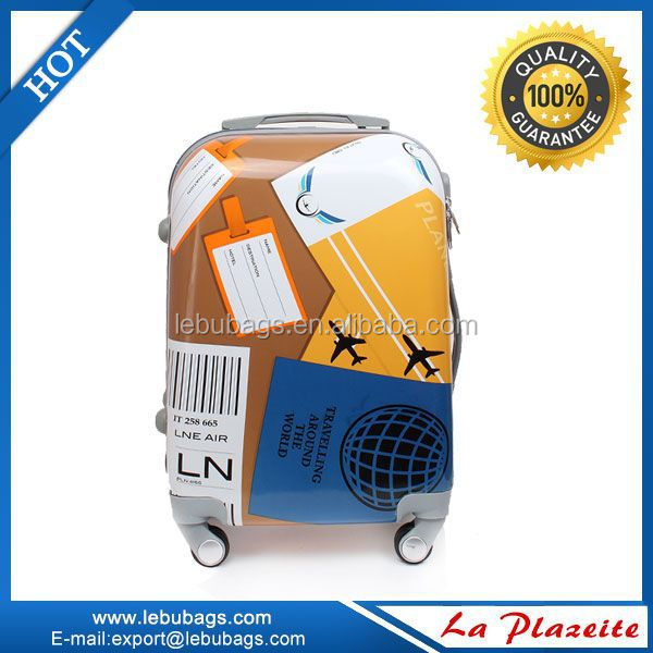Hand luggage trolley bags ABS/PC trolley luggage with universal wheels