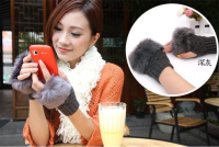 Knitted Fingerless Gloves multi color knit gloves Winter Gloves