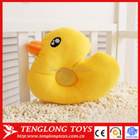 Cute design help baby to sleep yellow duck pillow with music player