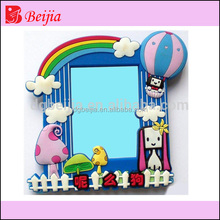Good craft eco-friendly 3D soft PVC rubber photo frame for decoration