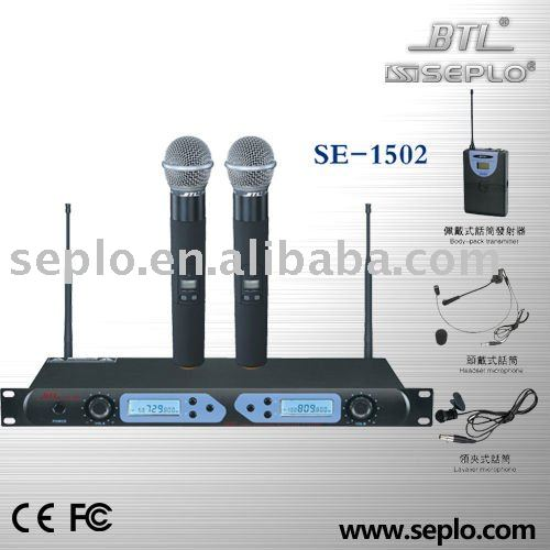 SE-1502 Professional UHF Wireless Microphone