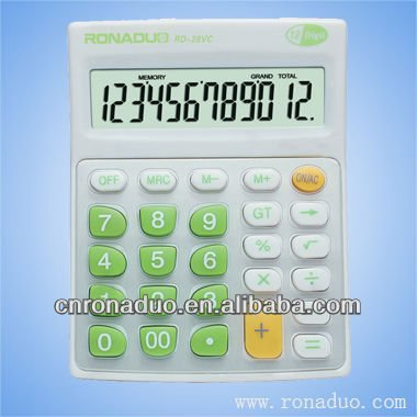 calculator&desktop calculator nice gift for students and office and business hot sale accept OEM&ODM 12 digits cal