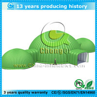 New arrival Chine Supplier green inflatable dome tent