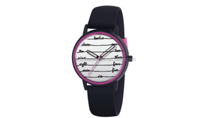 Imation Kateing Spadeing watch slim sport elegant music score pattern design your silicone rubber watch