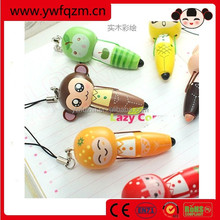 promotional wooden cute cheap funny ball pen