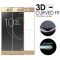 Factory price! 3D full curved tempered glass screen protector film for Sony Xperia XA2 Ultra