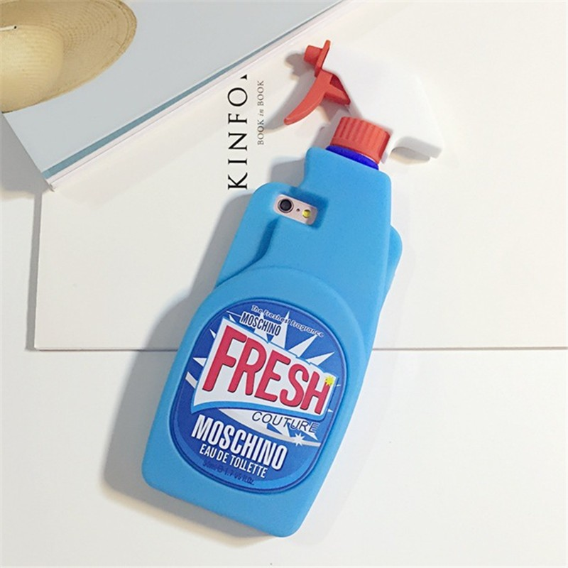 New products fresh moschino cleanser essence designed custom 3d silicone phone case