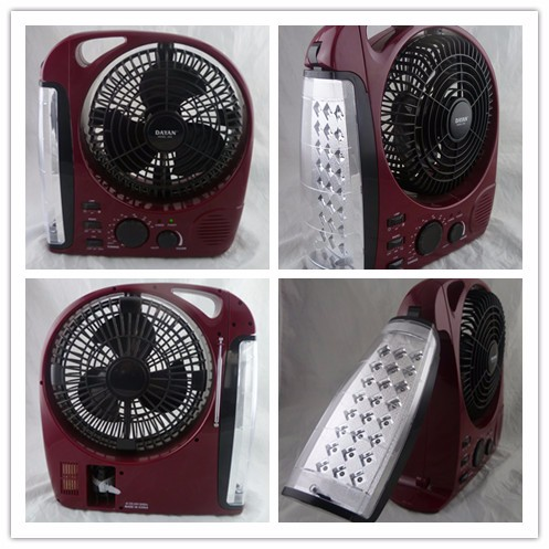 Refrigerator electric table AC/DC rechargeable portable box fan