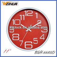 Wholesale plastic wall clocks/silent wall clock