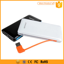 Built-in Cable 5000mAh Power Bank Case for Mi Mobile Phones Samsung