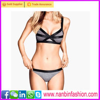 Black and Red workpatched colors lovely girls sexy bikinis bondage bikinis for women