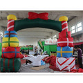 Event inflatable led arch lighted christmas archway entrance arch with gift boxes for sale