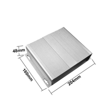 Custom Silvery Aluminum Extrusion Enclosure For Electrical Equipment
