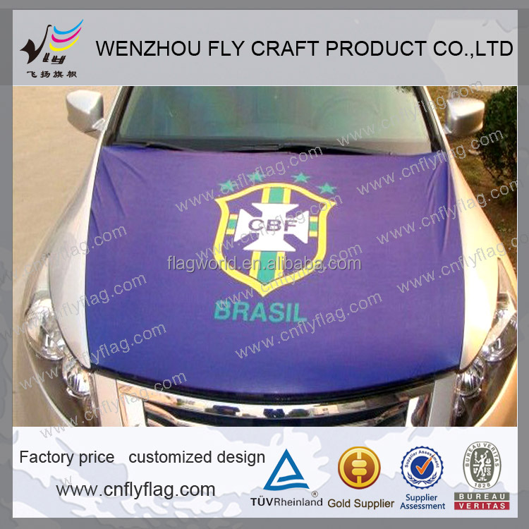 Custom car engine hood cover flag for sale advertising from Wenzhou Fly