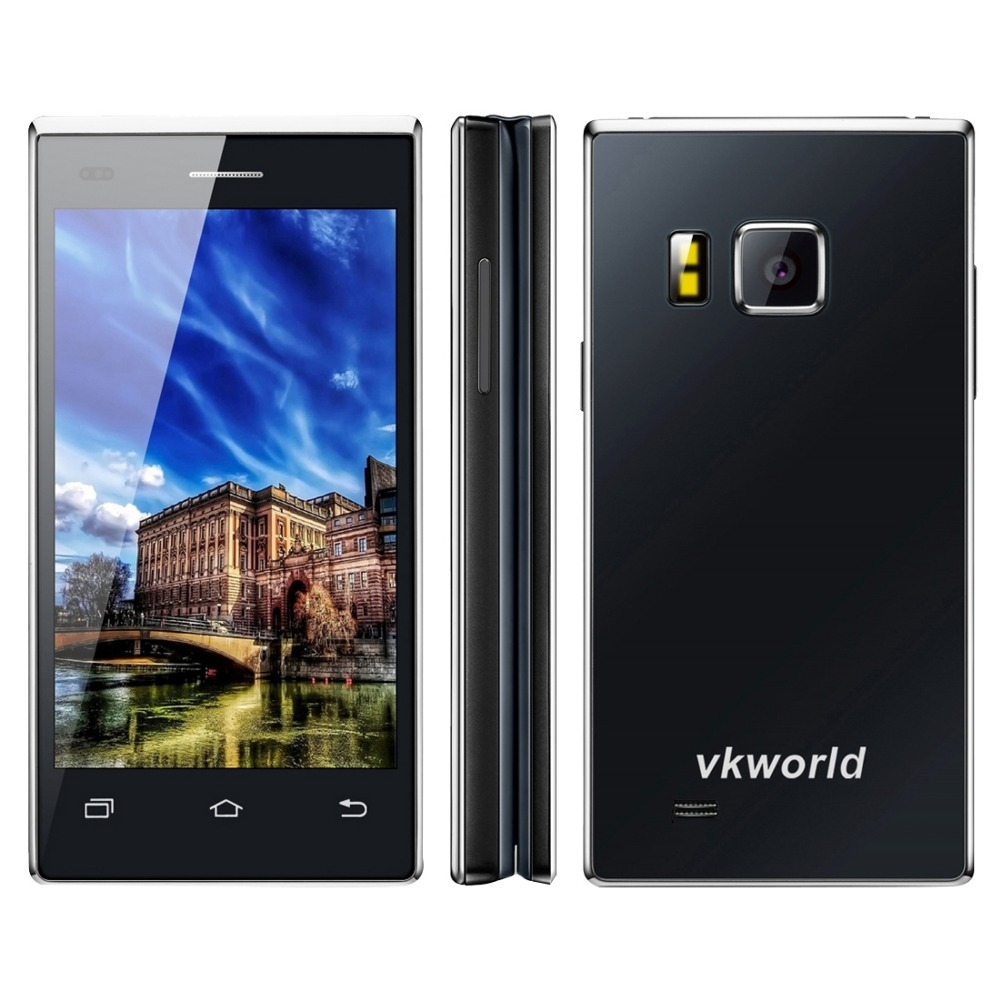Original VKworld T2 Business Flip Phone 4.0 inch Double FWVGA + IPS Dual-screen Physical Keyboard Android 5.1 MTK6580 Quad Core