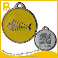 Free mould fee qr code pet tags for dog and cat