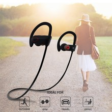 Newest Waterproof Prevent Noise Blue tooth Earphone, IN-Ear Stereo Earphone for Ear phone--RU9