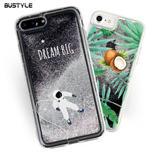 Wholesale For iPhone 7 Case Soft TPU Mobile Phone Case Glitter Liquid Flow Quicksand case for iPhone 7 7 plus S8