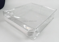 BSCI audit factory clear pvc bag/clear vinyl pvc zipper blanket bags/pvc bag