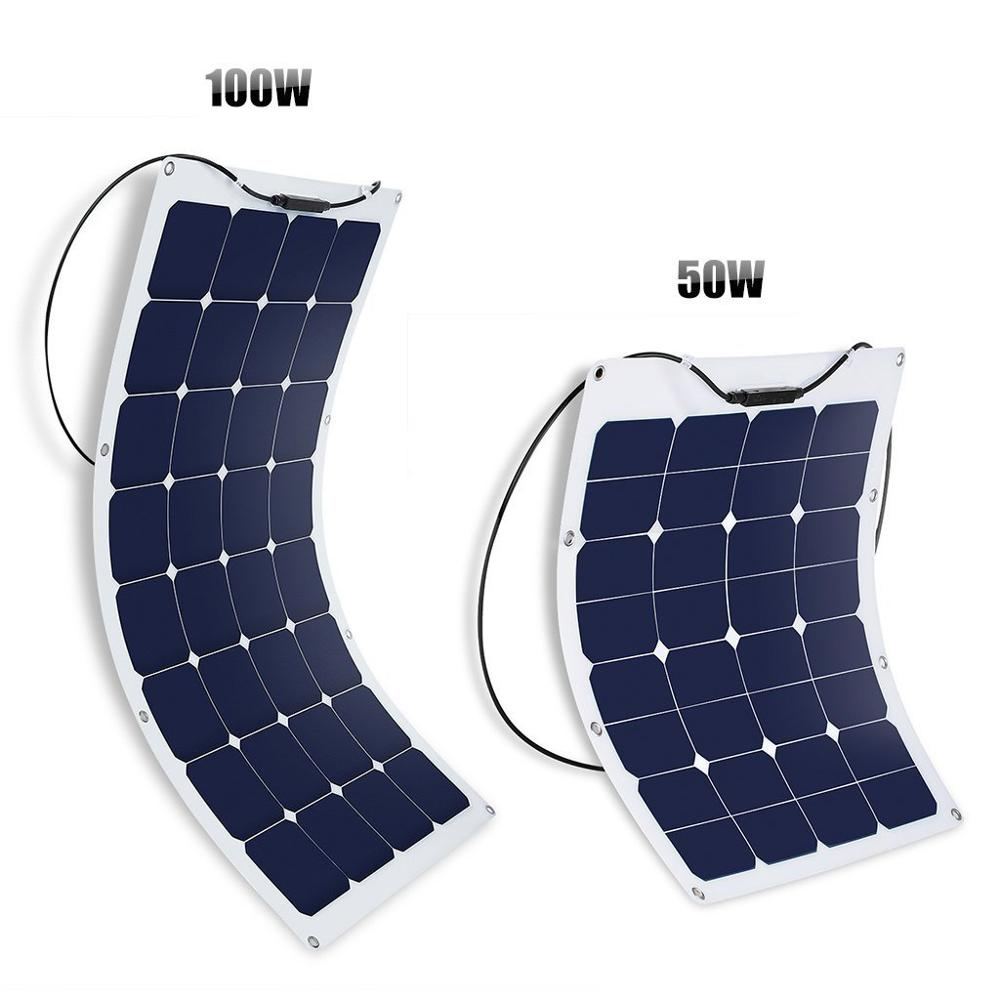 Hot sell low price light weight 12v / 24v 5w 30w 50w 80w 100w 120w 135w 200w 300w flexible solar panel for RV / Boats