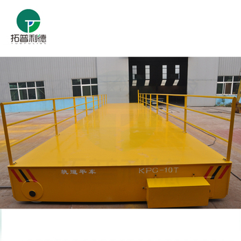 36v safe voltage industrial platform trolley with alarm system